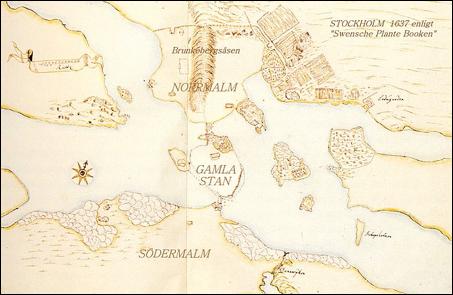 Karta Stockholm Drottninggatan.Norrtull Historiska Norrmalm