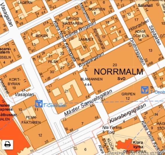 Karta Stockholm Drottninggatan.Kvartersnamn Historiska Norrmalm